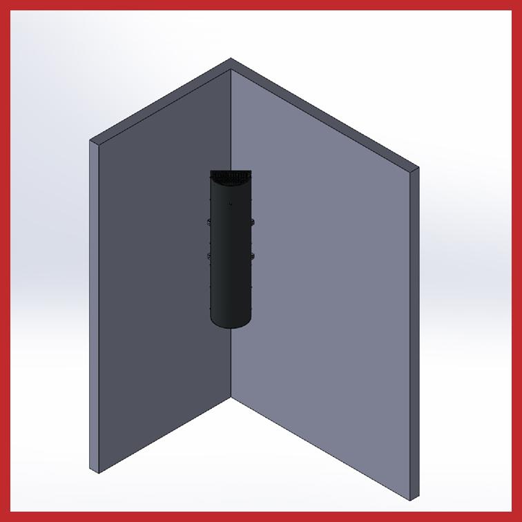 TBRS-1 Raumluftentkeimung Eckhalterung